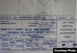 Documento oficial. Foto de Alberto Méndez Castelló publicado por Cubanet.