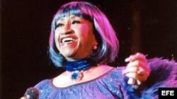 La cantante cubana Celia Cruz durante un concierto. Archivo.