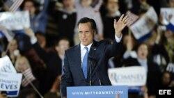 Romney ante sus votantes en Boston