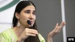 La disidente cubana Yoani Sánchez