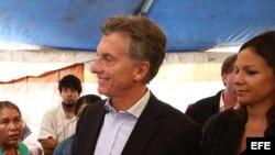 El candidato electoral de la oposición, Mauricio Macri.