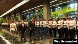 El presidente de Venezuela, Nicolás Maduro Moros, es recibido en el Palacio de la Revolución