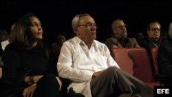 En esta foto de archivo Mariela Castro y el historiador Eusebio Leal.