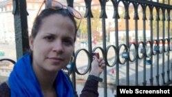 La actriz y periodista independiente Iris Mariño González