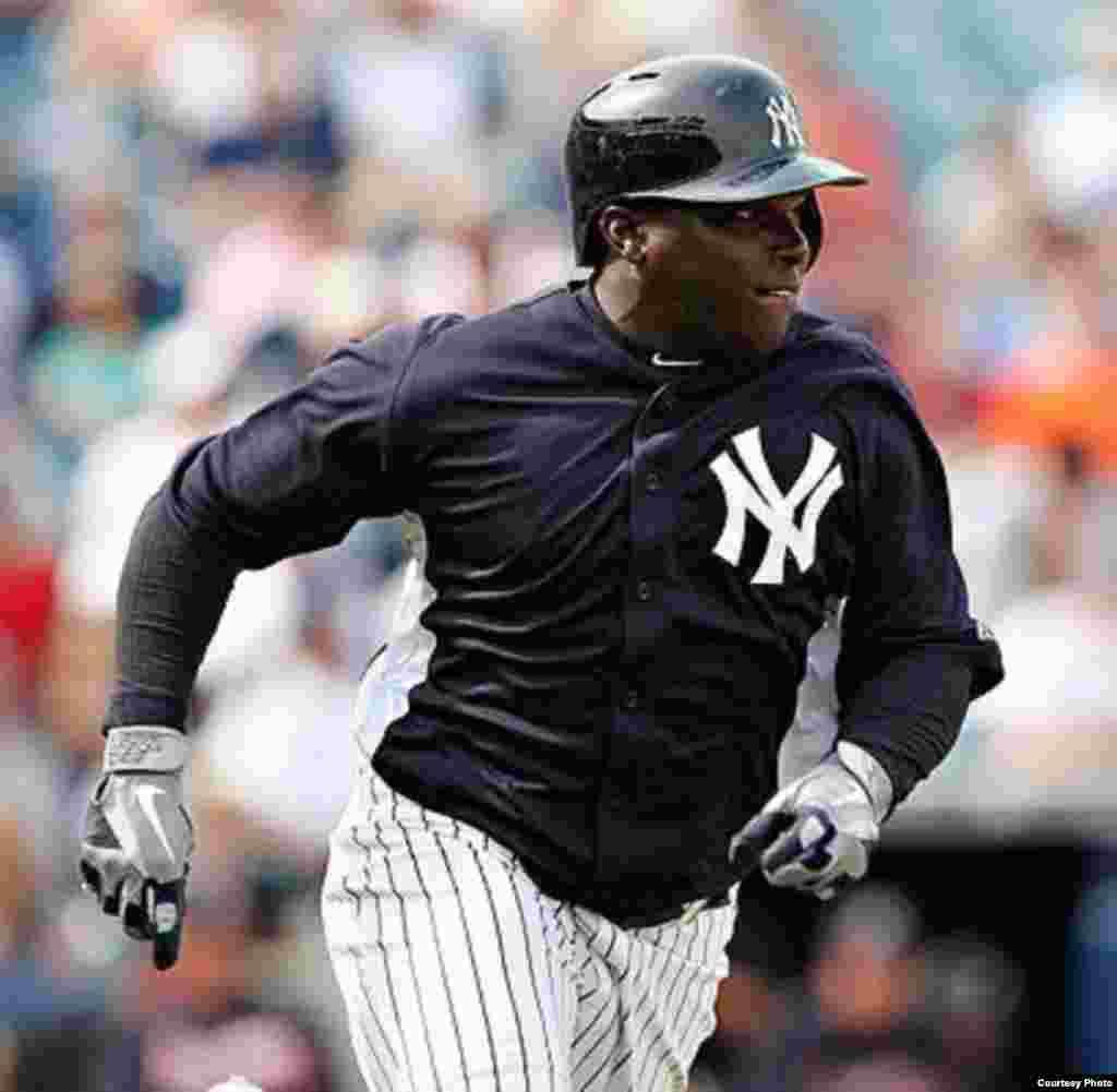 Ronnier Mustelier juega con el Scranton/Wilkes-Barre RailRiders, sucursal de los Yankees de Nueva York.
