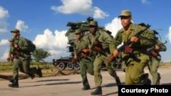 A correr: Los últimos ejercicios militares Bastión tuvieron lugar en Cuba en 2013.