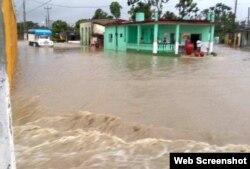 Sancti Spíritus bajo el agua tras el paso de la tormenta subtropical Alberto.