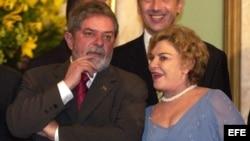 Luiz Inacio Lula da Silva (i), con su esposa Maritza Leticia Lula da Silva. Foto ARCHIVO
