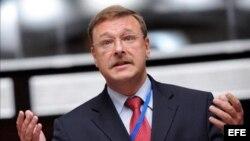 Konstantin Kosachev, presidente del Comité de Asuntos Exteriores del parlamento ruso.