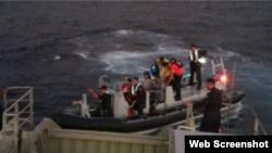 Rescate de balseros cubanos en México Febrero 3 de 2018.