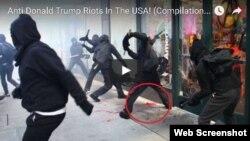 Violencia en las calles de Washington (USA).