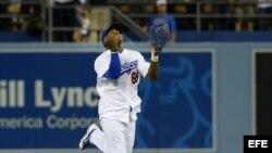 El jugador de los Dodgers de Los Ángeles Yasiel Puig.