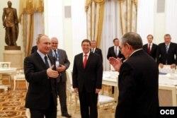 Raúl Castro encuentro con Vladimir Putin.