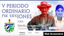 Asamblea Nacional de Cuba, Facebook y Twitter.