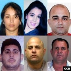 En el sentido de las manecillas del reloj, Yayly Santurio; Claudia Díaz; Misael Toledo; Eduardo Hernández; José Quiñones; Yasser Carrillo.