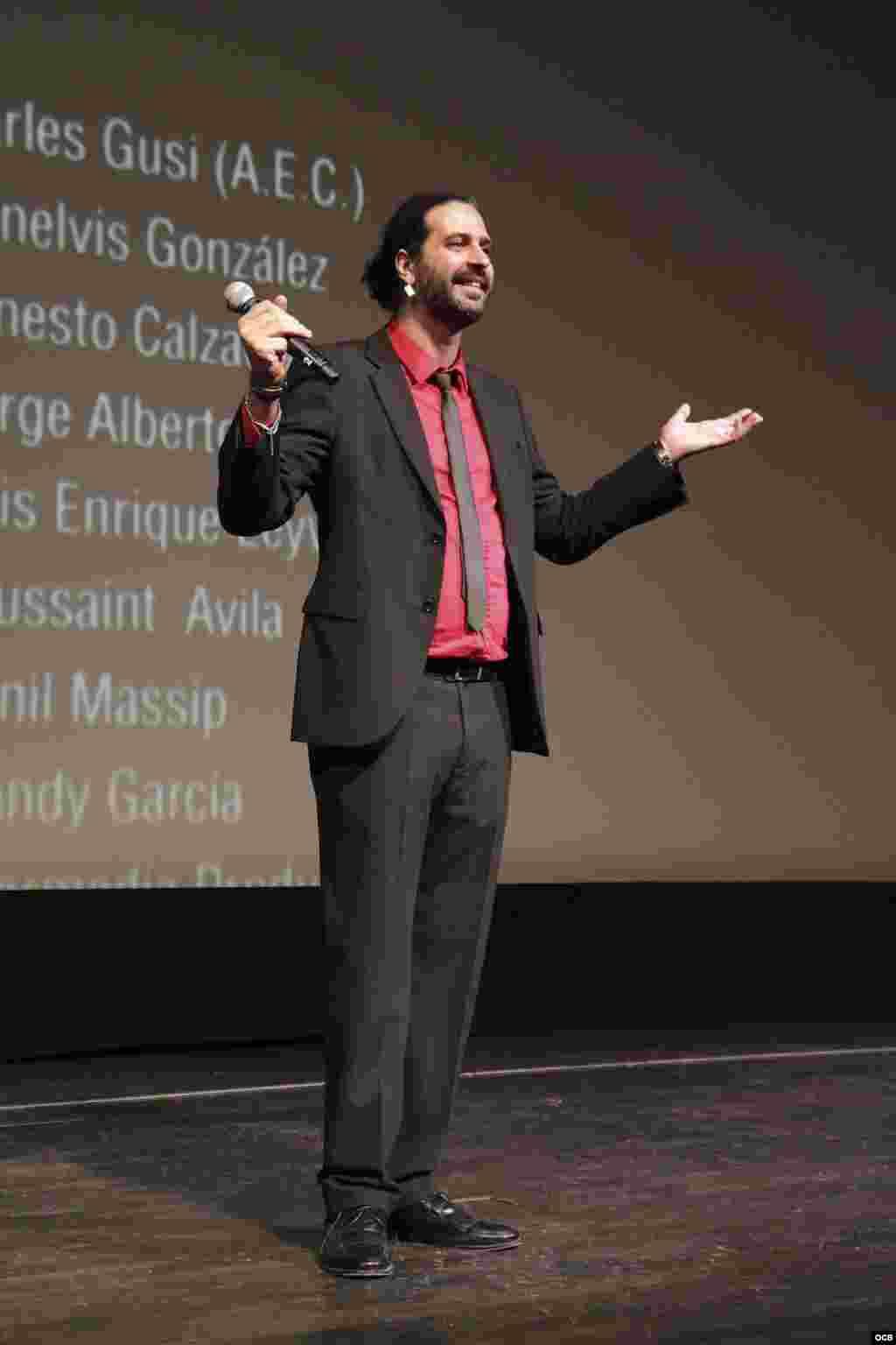 Alejandro Burgues premier de filme Juan de los Muertos. Fotografía C Cristian Lazzari