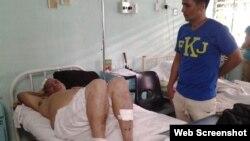 Ramón Aguilar Castrillo, uno de los tres lesionados en el accidente de tránsito.