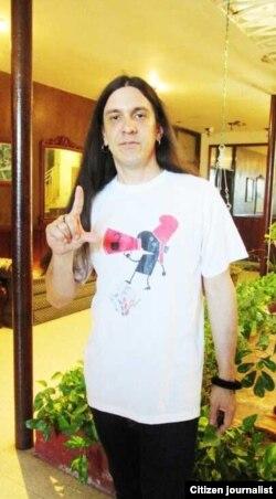 Boris Larramendi puso música a la campaña ciudadana Por Otra Cuba.