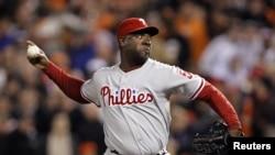 Jose Contreras, de los Phillies de Filadelfia