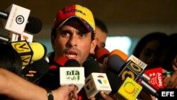 Fotografía de archivo del candidato presidencial opositor Henrique Capriles. EFE/IVAN GONZALEZ