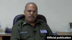 Teniente coronel Francisco Estrada Portales, jefe de Sección de Investigación Criminal del Ministerio del Interior.