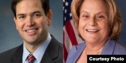 Marco Rubio e Ileana Ros-Lehtinen
