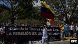 Protestas en Caracas el 14 de Febrero del 2014