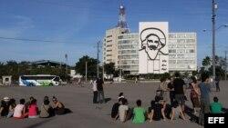 Activistas cubanos que iban a participar en el performance.