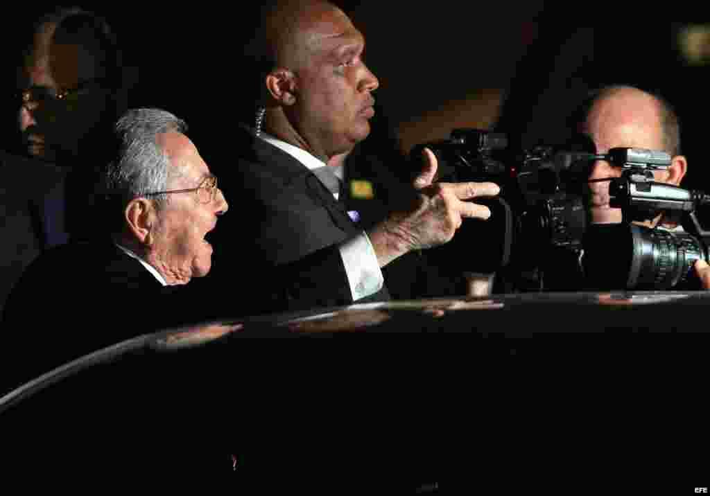 Raúl Castro en Panamá. Castro y Obama se verán las caras el viernes en la inauguración de la Cumbre, prevista para las 18:00 hora local.