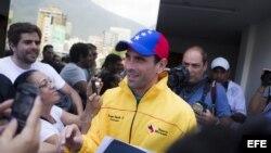 Rueda de prensa Henrique Capriles (Archivo)