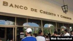 Banco de crédito. Cuba