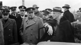 Churchill y Roosevelt en la Conferencia de Yalta.