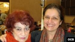 Nivaria Tejera y Madeline Cámara, en Valencia, España, 2008. Foto: Grace Piney.