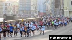 El maratón 'Marabana', en La Habana.