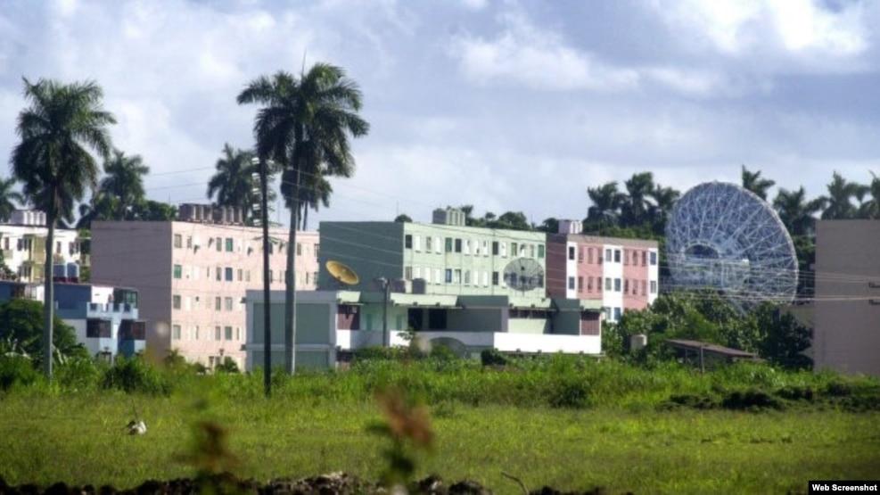Instalaciones de la base de espionaje rusa de Lourdes en Cuba.