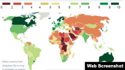 Cuba continúa como uno de los 51 países autoritarios del mundo