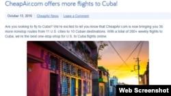 CheapAir se convierte en la primera agencia de viajes online que vende boletos a la isla desde Estados Unidos.
