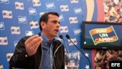 El candidato presidencial venezolano Enrique Capriles .Foto Archivo