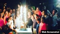 En julio pasado junto a María y otros familiares celebró su cumpleaños 24.
