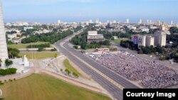 Plaza de la Revolución y Misa Papal