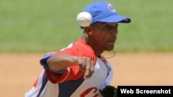 El lanzador cubano Yasiel Sierra Pérez. Archivo.