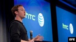 Mark Zuckerberg en una reciente presentación de Facebook en California.