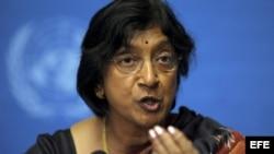 La Alta Comisionada de las Naciones Unidas para los Derechos Humanos, Navi Pillay.