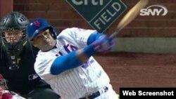 Yoenis Céspedes conectó un jonrón en el séptimo inning.