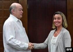 Mogherini se reúne con Rodrigo Malmierca, ministro de Comercio e Inversión Extranjera.