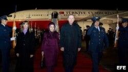 El presidente turco llega a Colombia en visita oficial.