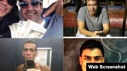En el sentido de las agujas del reloj, Robin Pedraja, Yondainer Gutierrez, Elio Héctor López e Hiram Centelles.
