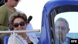 Dilma Rousseff y Raúl Castro inauguran el megapuerto de Mariel el pasado lunes 27 de enero de 2014