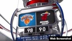 Anthony y los Knicks detienen la mala racha ante los Heat.
