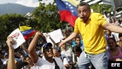 Protestas en Caracas, Venezuela, luego de las elecciones en que Maduro se impuso como presidente.